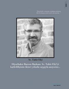 Portre: Avukat Tahir Elçi Anısına